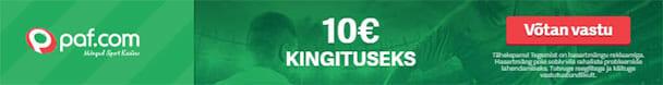 Paf spordiennustus - 10 eurot tasuta