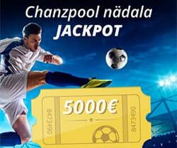 Chanz sotsiaalne spordiennustus Chanzpool - nädala jackpot €5000