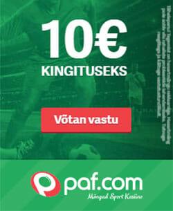 Paf spordiennustus - kingituseks tasuta 10 eurot