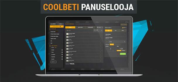 Coolbeti panuselooja – koosta ise spordipanused ja koefitsiendid