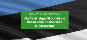 Gibraltar vs Eesti MM valikmäng riskivaba ennustus