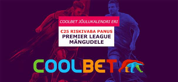 Coolbet Sport - €25 riskivaba panus Premier League mängudele
