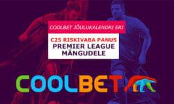 Coolbet spordiennustus: Premier League €25 riskivaba panus