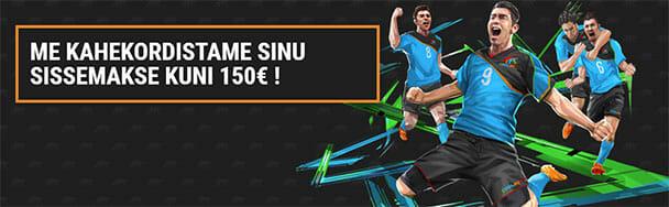 Coolbet spordiennustus - kahekordistame sinu esimese sissemakse summas kuni €150