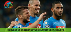 Coolbet spordiennustuse suurim võit - 97172 eurot