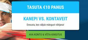 Eesti Meedia Tennis Cup - Kanepi vs. Kontaveit €10 tasuta panus