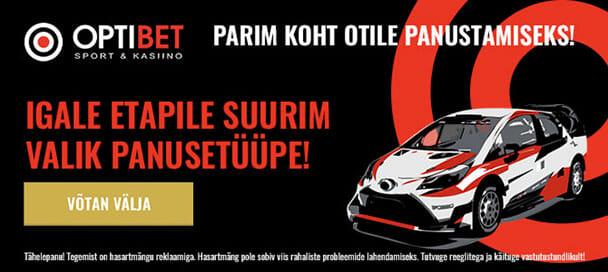 WRC panused ja spordiennustus Optibetis