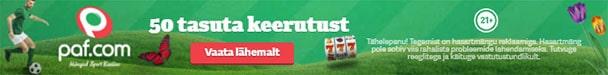 Paf konto avamisel €10 tasuta pärisraha + 50 tasuta spinni mängus Pehmed ja Karvased