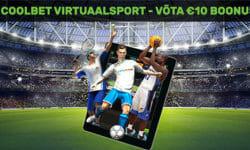 Proovi virtuaalsporti Coolbetis – saad €10 boonuse