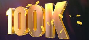 Coolbeti 100 000 kliendi pakkumine - €5 tasuta panus, 35 tasuta keerutust ja €1200 pokkerireis