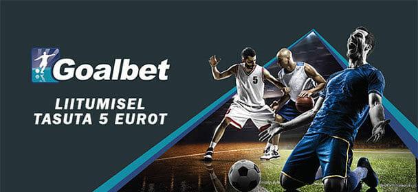 Goalbet spordiennustus – tasuta 5 eurot + €100 spordiboonus