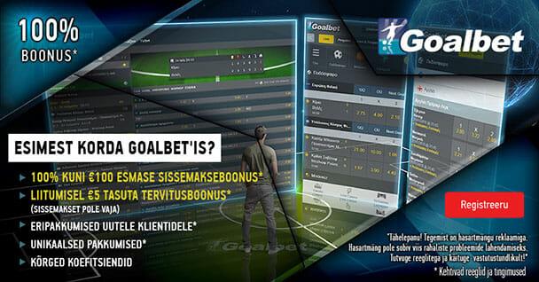 Goalbet spordiennustus - uue mängija pakkumised