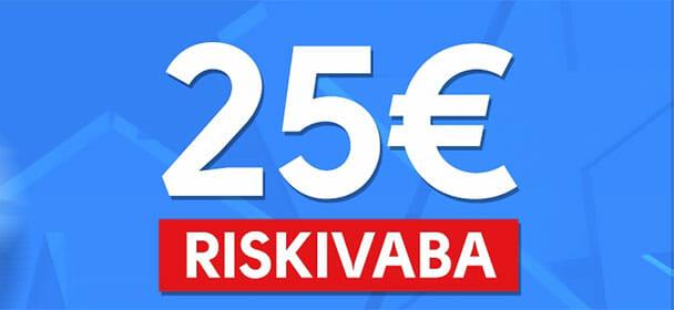 Olybet - Uuele kliendi €25 riskivaba panus