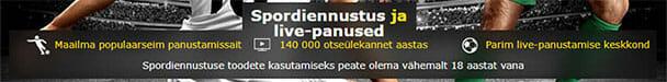 Bet365 spordiennustus Eestis