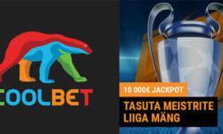 €10 000 jackpotiga tasuta Coolbet Meistrite Liiga ennustusvõistlus