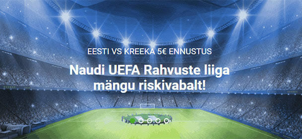 Ennusta Eesti VS Kreeka rahvuste liiga mängu riskivabalt