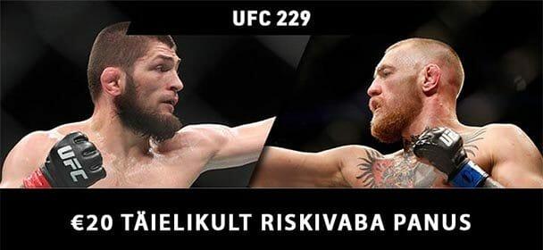 Ennusta UFC 229 McGregor vs Khabib täiesti riskivabalt