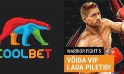 Osale tasuta Coolbet'i loosis ja võida Warrior Fight 5 VIP piletid neljale