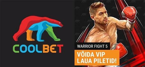 Coolbet - Warrior Fight 5 tasuta VIP piletite loos