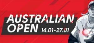 Olybet - Australian Open 2019 tasavägise mängu kindlustus