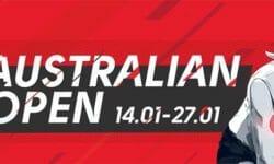 Australian Open 2019 tasavägise mängu kindlustus Olybet'is