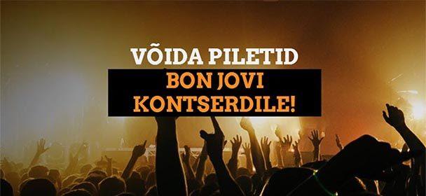 Bon Jovi Tallinna kontserdi tasuta piletite loos Coolbet'is