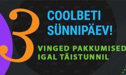 Coolbet'i 3. sünnipäev 16. mail – tasuta panused, keerutused ja võistlused