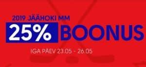 Olybet - Jäähoki MM 2019 play-off boonus