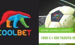 Suvine jalgpalli Jackpot Coolbet'is – €1000 loos