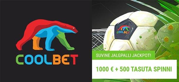 Coolbet - suvine jalgpalli €1000 + 500 tasuta keerutuse loos