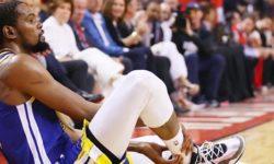 Durant aitas Warriors'il alistada Raptors'i ja sai uuesti vigastada