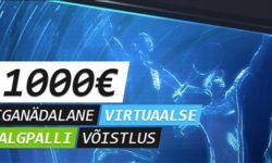 Iganädalane virtuaalse jalgpalli võistlus Coolbet'is – €1000 auhinnafond