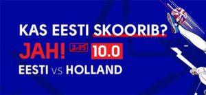 Olybet - Eesti vs holland superkoefitsient