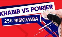 Panusta riskivabalt UFC 242 Khabib VS Poirier matšile ja võida pärisraha