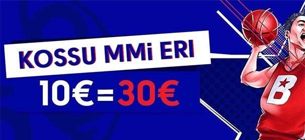 Olybet'i korvpalli MM 2019 eripakkumine – 10€ = €30