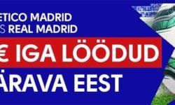 Atletico Madrid vs Real Madrid – Iga värava eest €5 freebet