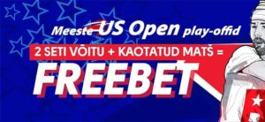 Olybet - US Open play-offidel kaotuse korral raha tagasi freebetina