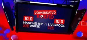 Olybet - Inglise kõrgliiga tervituspakkumine - manchester united vs liverpool