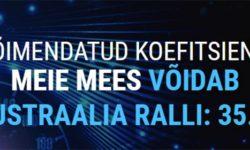 WRC Autoralli MM Austraalia ralli 2019 uue kliendi superkoefitsient