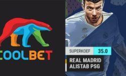 Meistrite Liiga – Real Madrid vs PSG uue kliendi superkoef Coolbet'is