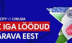 Olybet'is Manchester City vs Chelsea mängus iga värava eest €5
