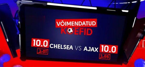 Olybet'i Meistrite Liiga tervituspakkumine – Chelsea vs Ajax
