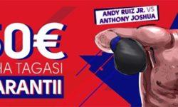 Anthony Joshua vs Andy Ruiz poksimatš – €50 riskivaba panus