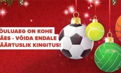 Spordiennustuse jõuluaeg Optibet'is – võida väärtuslik jõulukink