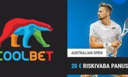 Austraalia lahtised 2020 Coolbet'is – €20 riskivaba panus
