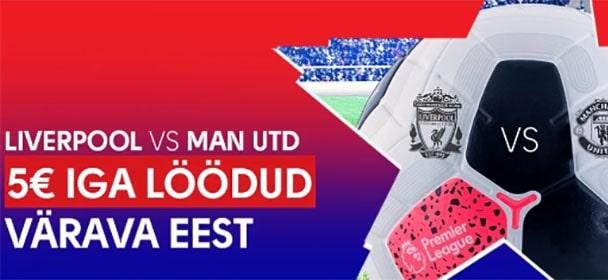 Olybet - Liverpool vs Manchester united tasuta panused