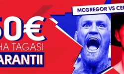 Olybet'is UFC 246 McGregor vs Cerrone €50 riskivaba panus