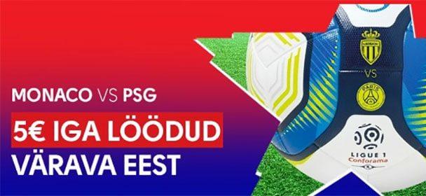 Monaco vs PSG Olybet'is – Panusta ja saad iga värava eest €5 freebeti
