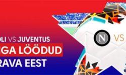 Napoli vs Juventus Olybet'is – Iga värava eest €5 tasuta panus