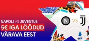 Olybet - Napoli vs Juventus tasuta panused